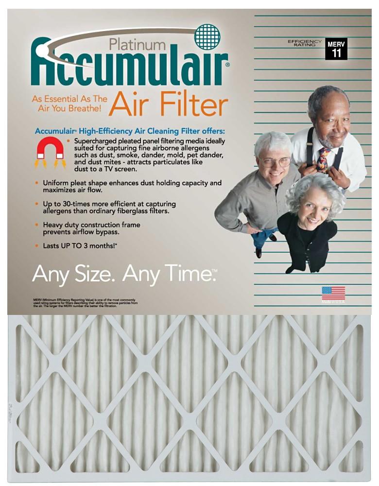 12-1/2 x 13-1/2 x 1 - Accumulair Platinum Filter (Actual Size) - MERV 11