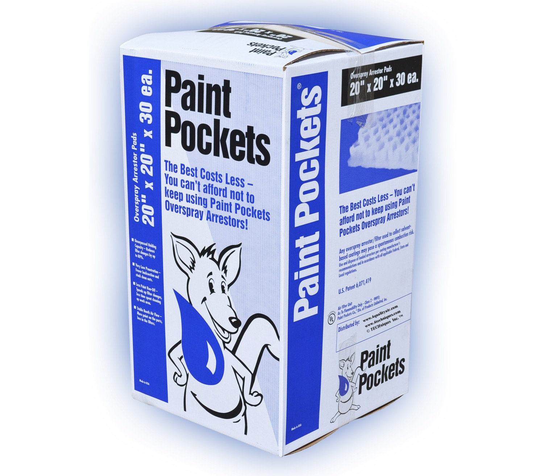20 x 20 - Paint Pockets WHITE Overspray Arrestor