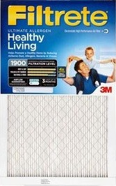 10 x 20 x 1 (9.7 x 19.7) Filtrete Ultimate Allergen Reduction 1900 Filter by 3M 4-Pack
