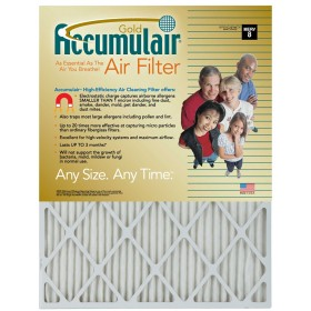12 x 36 x 1 - Accumulair Gold Filter - MERV 8