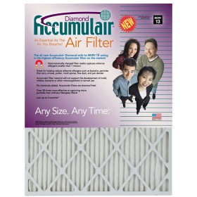 12 x 30 x 1 - Accumulair Diamond Filter - MERV 13