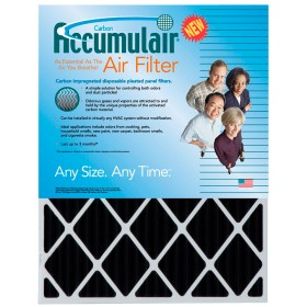 12 x 36 x 1 - Accumulair Carbon Odor-Ban Filter 4-Pack