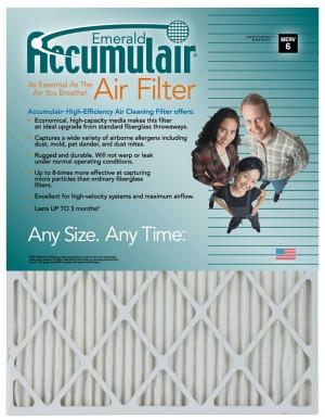 9 x 18 x 1 - Accumulair Emerald Filter - MERV 6