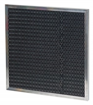 16 x 25 x 0.05 - 1/2 Inch Metal Mesh Filter with Carbon 2-Pack