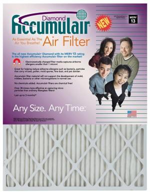 8 x 20 x 4 - Accumulair Diamond Filter - MERV 13