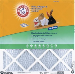 16 x 25 x 1 Arm and Hammer Air Filter 2-Pack