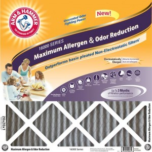 12 x 20 x 1 (11.75 x 19.75) Arm and Hammer Max Allergen Air Filter 4-Pack