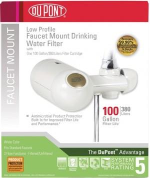 FM300XW DUPONT Premium Faucet Mount Filtration System (White)