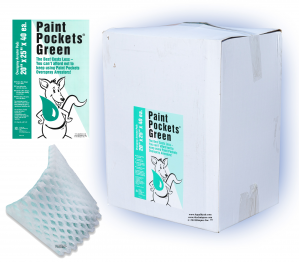 20 x 25 - Paint Pockets GREEN Overspray Arrestor