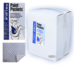 20 x 25 - Paint Pockets WHITE Overspray Arrestor