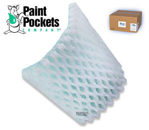 20 x 20 - Paint Pockets GREEN Overspray Arrestor