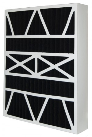 20x25x6 (19.75 x 24.5 x 6) Carbon Odor Block Aftermarket Replacement Filter for Lennox 2-Pack