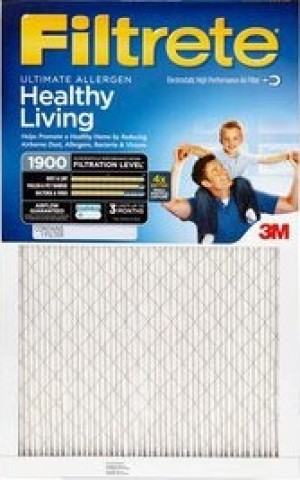 14 x 14 x 1 (13.7 x 13.7) Filtrete Ultimate Allergen Reduction 1900 Filter by 3M (4-Pack)