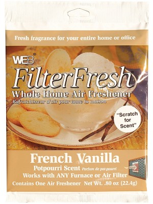 French Vanilla Filter Fresh Scented Filter Pads