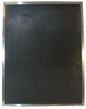 16 x 25 x -1/4 - 1/4 Inch Metal Mesh Filter with Carbon 2-Pack