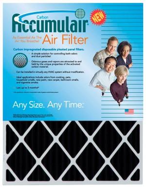 22 x 25 x 1 - Custom Accumulair Carbon Odor-Ban Filter