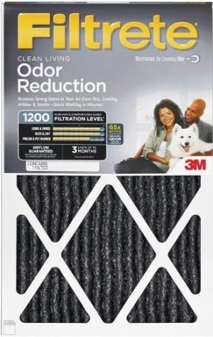 20 x 25 x 1 Filtrete Allergen Defense Odor Reduction Filter 4-Pack