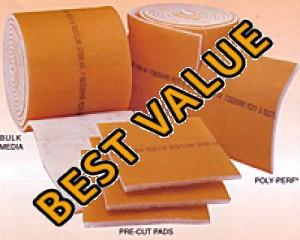 22 x 22 - Dustlok Dual-Ply Pad Filter (No Frame) - MERV 9 4-Pack